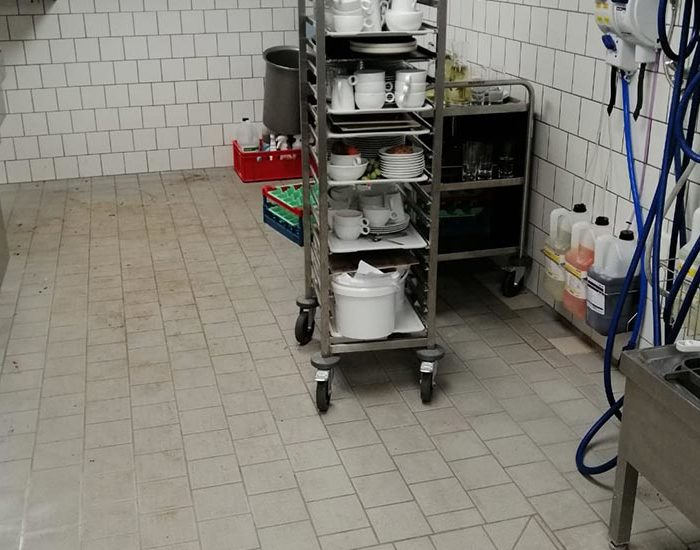 Küchenreinigung vorher